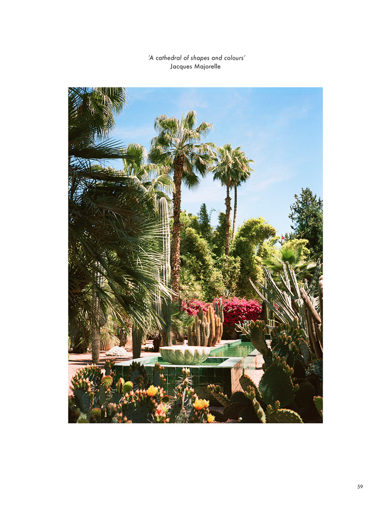 Jardin Marjorelle, Rakes Progress Magazine. Jane Hilton